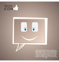 Icon on the Background vector image