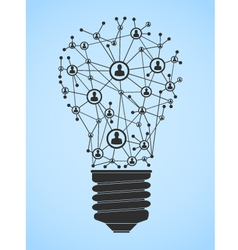 Lightbulb Network vector image vector image