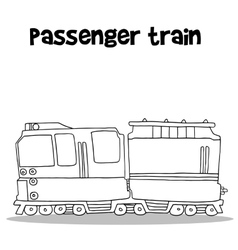 Passenger train with hand draw vector