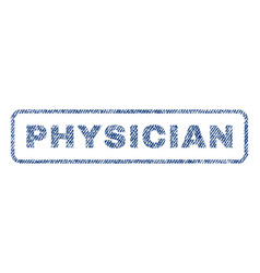 physician textile stamp vector image vector image