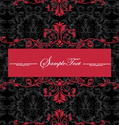 red and blackinvitation vector image vector image