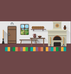Retro country house vector