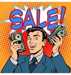 Sale announcement business concept businessman vector