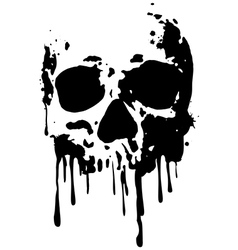 skull blood2 vector image vector image