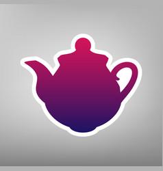 tea maker kitchen sign purple gradient vector image vector image