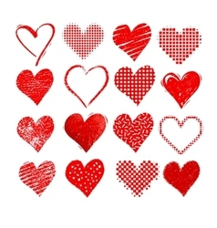 Valentine hearts isolated on white vector