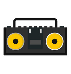Vintage tape recorder for audio cassettes icon vector