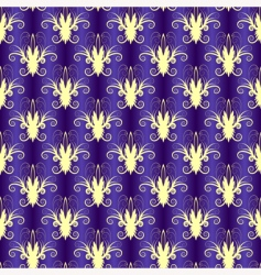 violet seamless floral pattern vector image vector image