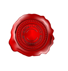 wax seal isolated on a white vector image vector image