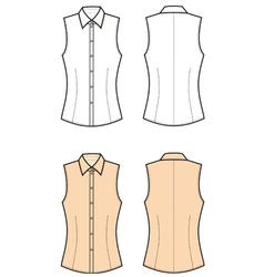 Woman blouse vector