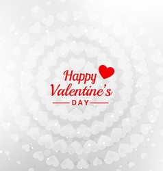 Happy valentines day message in white background vector