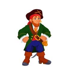 Kind cartoon pirate vector image