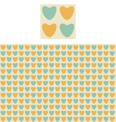 Hearts geometric pattern swatch vector