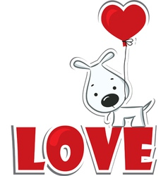 Dog with the heart vector