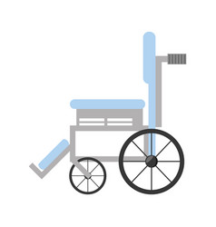 wheelchair medical equipment icon vector image