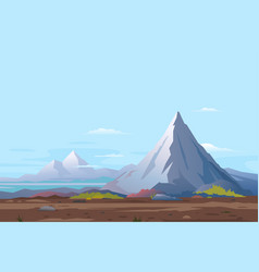 High mountain landscape background vector