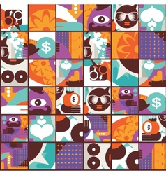 Seamless pattern with modern adam and eve vector