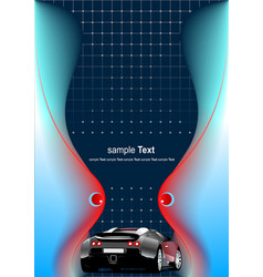 Abstract futuristic background with car image vector