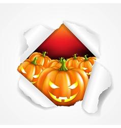 Retro halloween poster vector