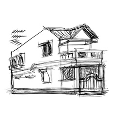 Sketch of house vector