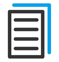Copy document icon vector
