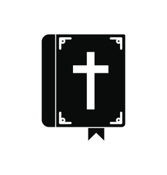 Bible single black icon vector