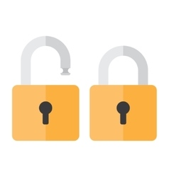 Opened and closed locks vector