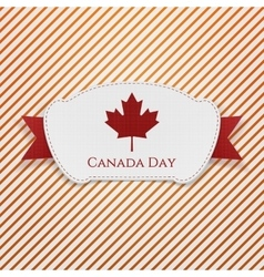 Canada day realistic tag with ribbon vector