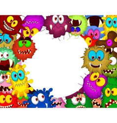 Cartoon bacteria for you design vector image