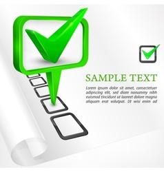 Check mark green vector