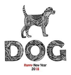 Animal and dog text handdrawn card vector