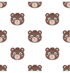 Bear muzzle icon in cartoon style isolated on vector