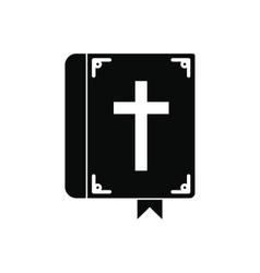 Bible single black icon vector