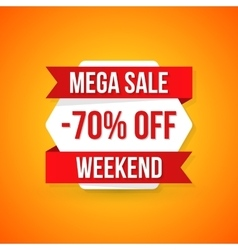 Big sale banner 70 off best offer vector image