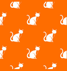 black cat pattern seamless vector image vector image