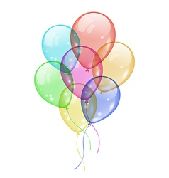 Bunch colorful balloons isolated on white vector