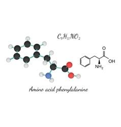 C9h11no2 amino acid phenylalanine molecule vector