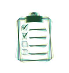 Checklist sign colorful icon vector
