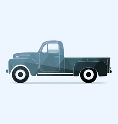 Classic pickup truck vector