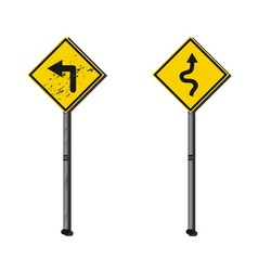 Dirty sign and clean sign vector