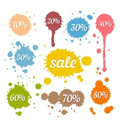 Discount and Sale Labels vector image