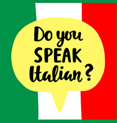 Do you speak italian vector