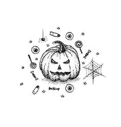 dotwork halloween pumpkin vector image