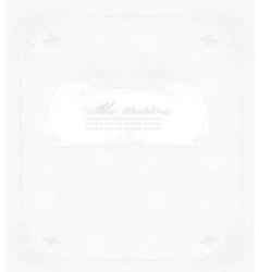 Elegant vintage frame card vector