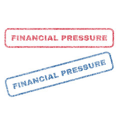 Financial pressure textile stamps vector