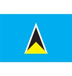 Flag of saint lucia vector