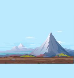 High mountain landscape background vector