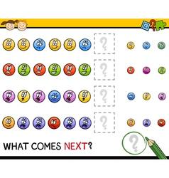 Kindergarten pattern task vector