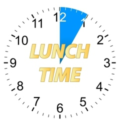 Lunch time clock vector