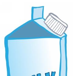 Milk cardboard packaging vector image vector image